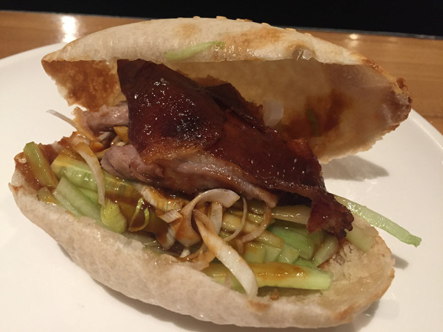 Beijing duck pocket from China Live.  Photo by Patty Burness